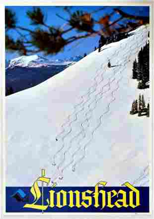 Sport Poster Lionshead Vail Ski Colorado USA