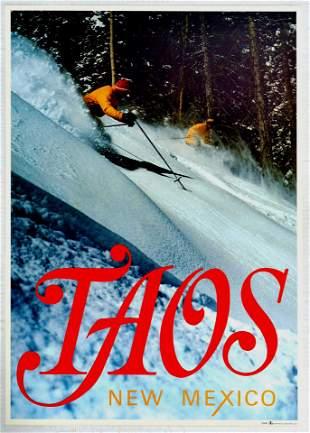 Sport Poster Taos Ski New Mexico USA