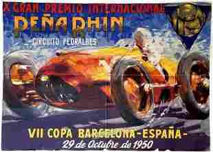 Sport Poster Pena Rhin Grand Prix Barcelona Spain
