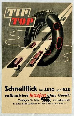 Advertising Poster TipTop Rubber Tires Motorcycle