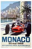 Sport Poster Monaco 1965 Grand Prix Formula One Motor