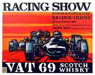 Advertising Poster Racing Show Galerie Louise Cars