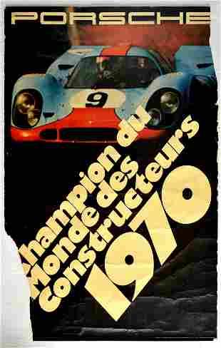 Advertising Poster Porsche World Constructors Champion