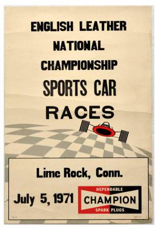 Advertising Poster English Leather National