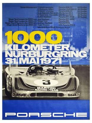Sport Poster Porsche 908 1000km Nurburgring Race
