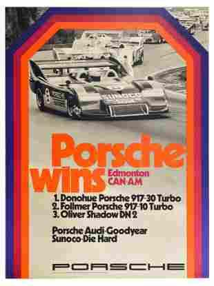 Advertising Poster Porsche 917 Wins Edmonton CanAm