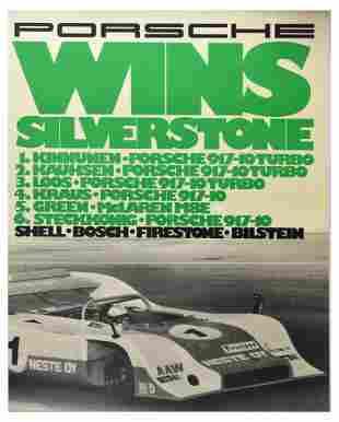 Advertising Poster Porsche 917 Wins Silverstone Shell