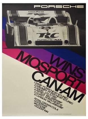 Advertising Poster Porsche 917 Wins Mosport CanAm Crown