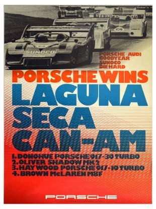 Advertising Poster Porsche 917 Wins Laguna Seca CanAm