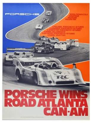 Sport Poster Porsche 917 Wins Road Atlanta CanAm Crown