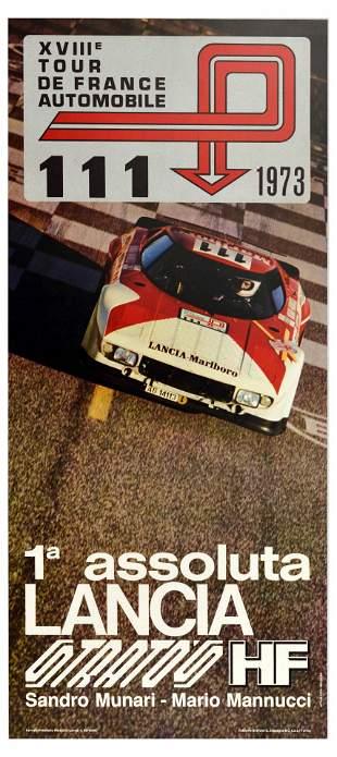 Advertising Poster Lancia Stratos Tour de France