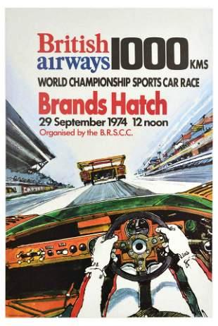 Advertising Poster British Airways Brands Hatch 1000km