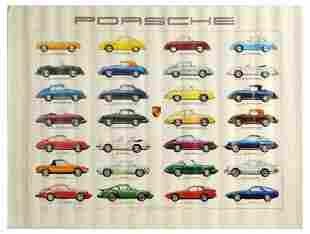 Advertising Poster Porsche Production Sports Cars Ken