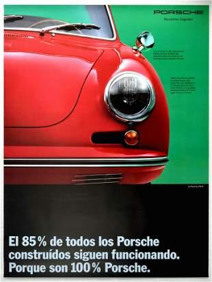 Advertising Poster Porsche 356B Car Reliability