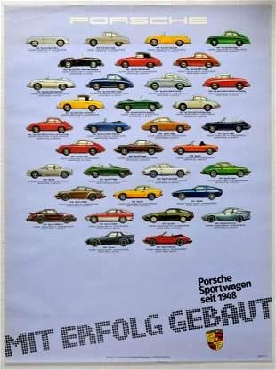 Advertising Poster Porsche Sports Cars 911 356