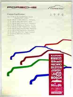 Advertising Poster Porsche Carrera Cup 1990