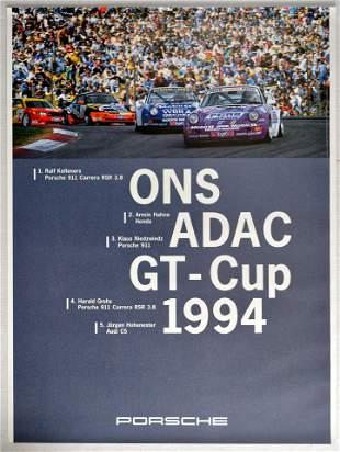 Advertising Poster ONS ADAC GT Cup Porsche 911 Carrera