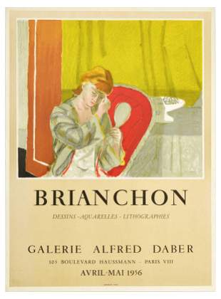 Advertising Poster Maurice Brianchon Exhibition Mourlot