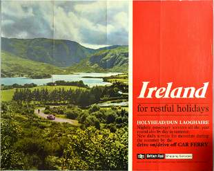Advertising Poster British Railway Ireland Holiday