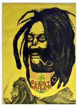 Advertising Poster Bunny Wailer The Wailers Reggae