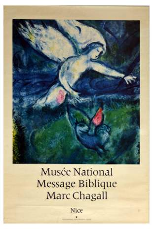 Advertising Poster Marc Chagall Musee Nationale Nice