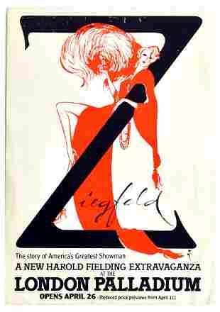 Advertising Poster Ziegfeld Musical London Palladium