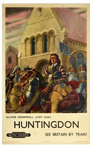 Travel Poster Huntingdon British Railways Oliver