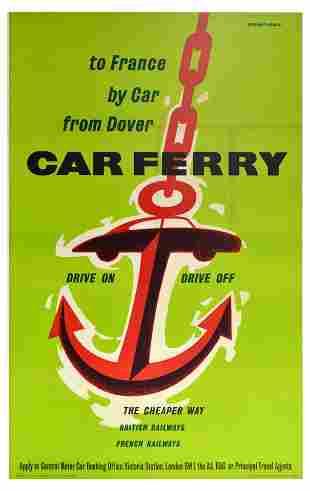 Travel Poster British Railways French Railways Car