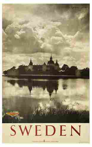 Travel Poster Sweden Kalmar Castle