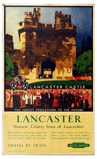 Travel Poster Lancaster Castle British Railways