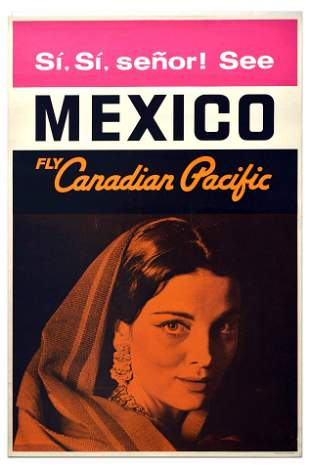 Travel Poster Canadian Pacific Airline Mexico