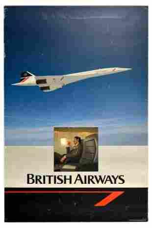 Travel Poster British Airways Concorde Aviation Airline