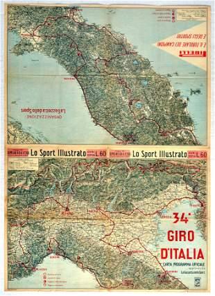 Sport Poster Giro dItalia Grand Cycling Tour Race Italy