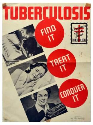 Propaganda Poster Tuberculosis Public Health USA