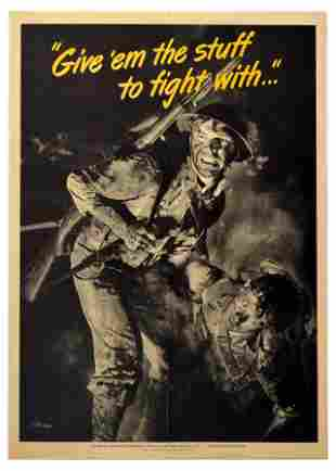 War Poster Stuff to Fight With WWII USA Soldier Home