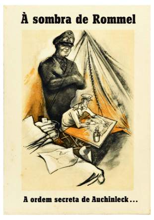 War Poster WWII Nazi Rommel Auchinleck