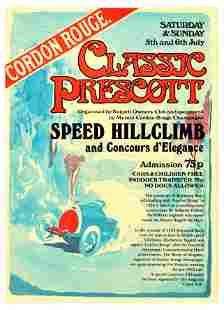 Sport Poster Classic Prescott Bugatti Hillclimb Cordon