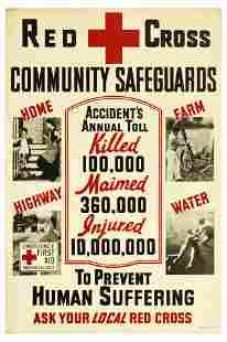 Propaganda Poster Red Cross Community Safeguards
