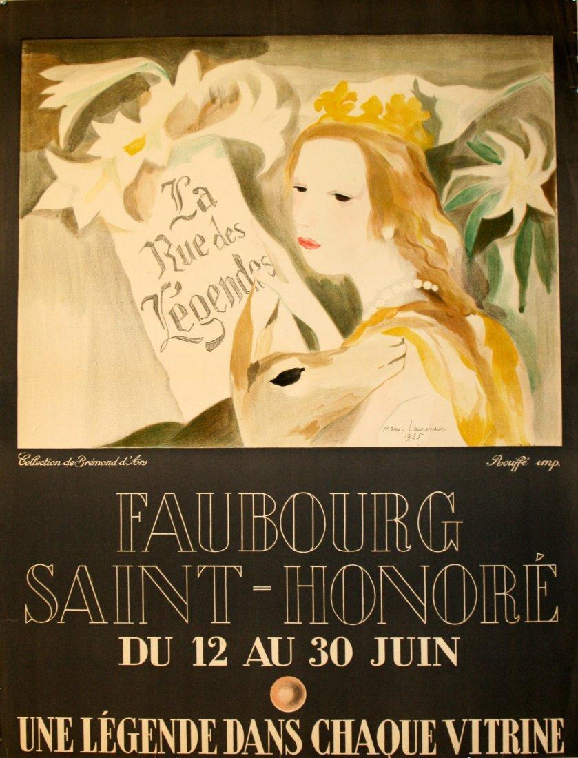 Original advertising poster Faubourg Saint-Honore Paris