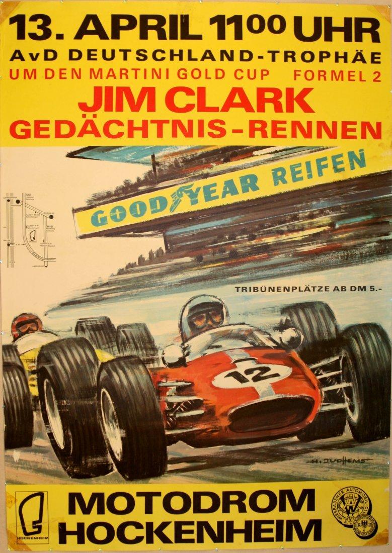 Original car racing poster Hockenheim Jim Clark