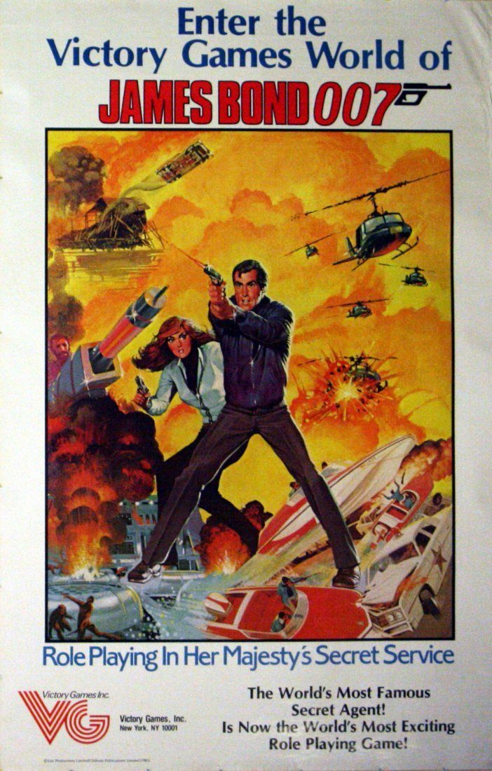 Original advertising poster James Bond Board Game