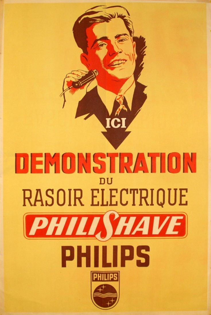 Original advertising poster Philips PhiliShave Razor
