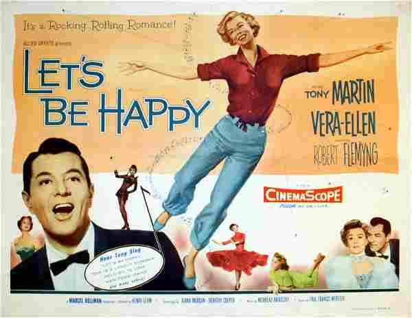 Original movie poster Let's Be Happy Vera Ellen USA