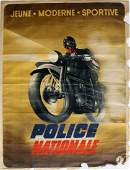 Original WWII Nazi Police France motorcycle propaganda