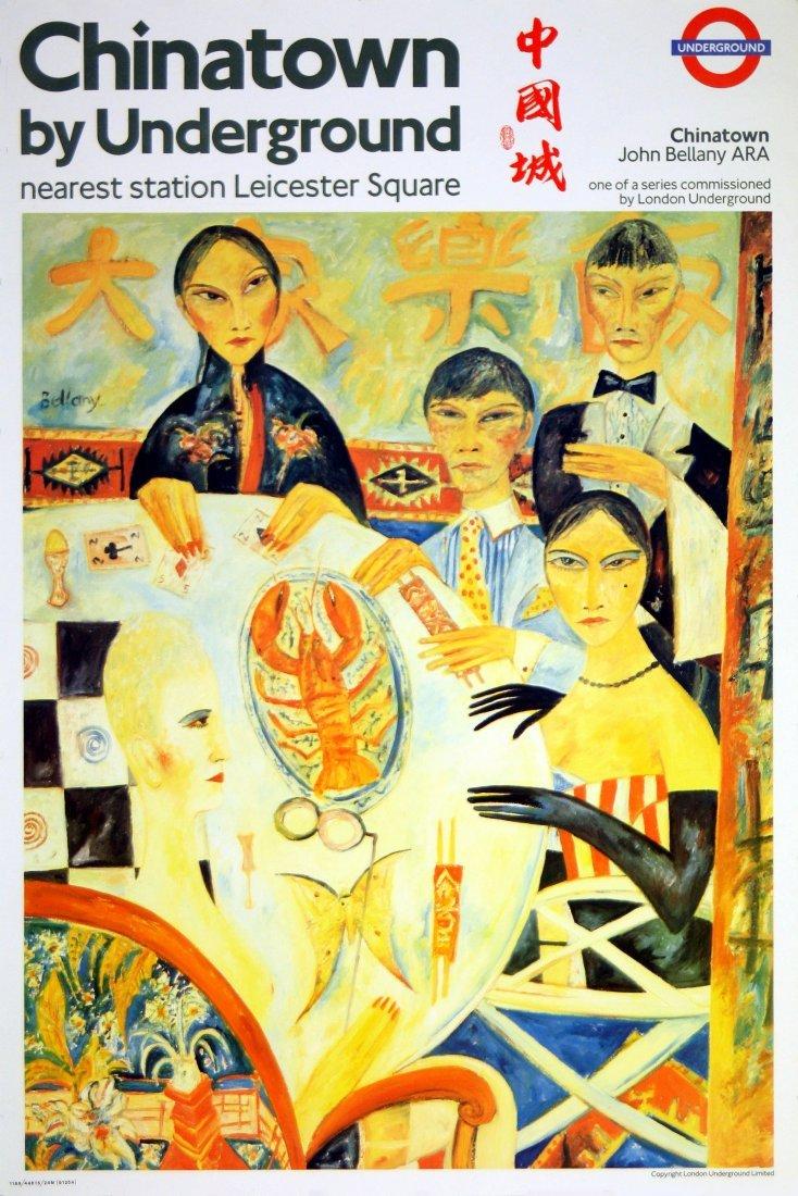 Original London Underground poster Chinatown J Bellany
