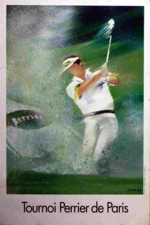 Original Poster Golf Paris Perrier Tournament