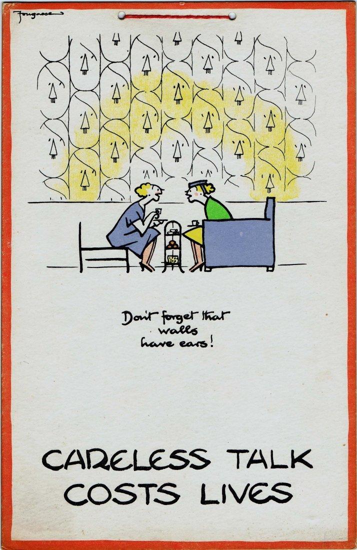 Original poster Careless Talk Costs Lives Walls