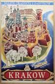 Krakow Poland Chomicz Art Deco Travel poster