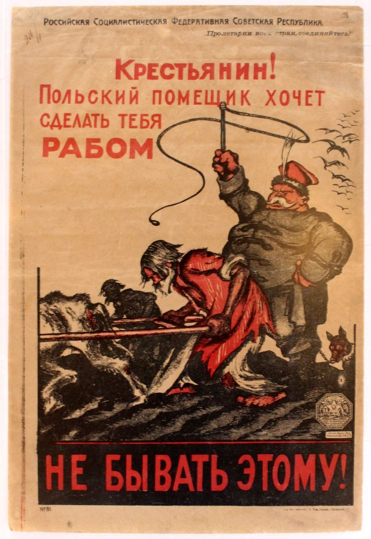 Propaganda Poster Peasant! Polish landowner wants