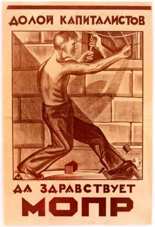 Propaganda Poster Down with the capitalists
